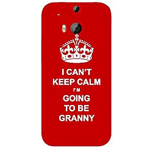 Skin4gadgets I CAN'T KEEP CALM I'm GOING TO BE GRANNY - Colour - Red Phone Skin for HTC ONE M8