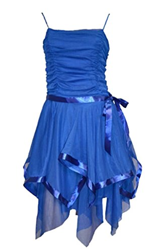 Womens New Strappy Prom Short Evening Party Dress Size 8,10 and 12 Royal 8