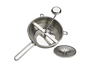 Kitchen Craft 20 cm Master Class Stainless Steel Rotary Food Mill
