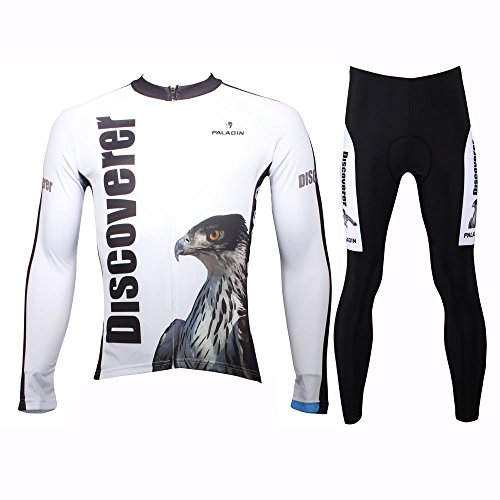 Paladinsport Discovery Eagle Long Sleeve Cycling Jersey Set Men Asian Size XL (Colombia Retro Cycling compare prices)