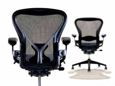 Aeron Chair Herman Miller Highly Adjustable with PostureFit Lumbar Support Leather Arm Rest Pads Large Size (C) Aluminum Frame, Classic Dark Carbon Pellicle Mesh Home Office Desk Task Chair