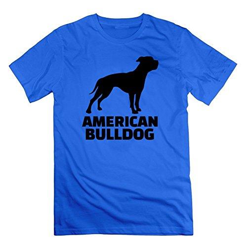 Geraldlane Men American Bulldog Image Regular Funny Blue T-shirt In Small (American Bulldog For Sale compare prices)