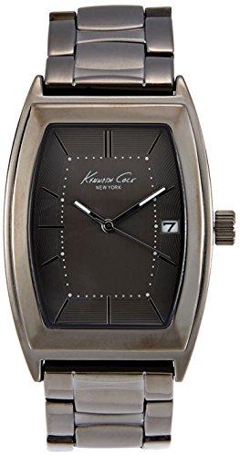 Kenneth Cole uomo marrone Cinturino in acciaio & orologio analogico al quarzo con custodia Data di 10019426