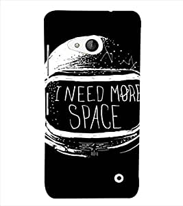PrintVisa Space Helmet Design 3D Hard Polycarbonate Designer Back Case Cover for Nokia Lumia 550
