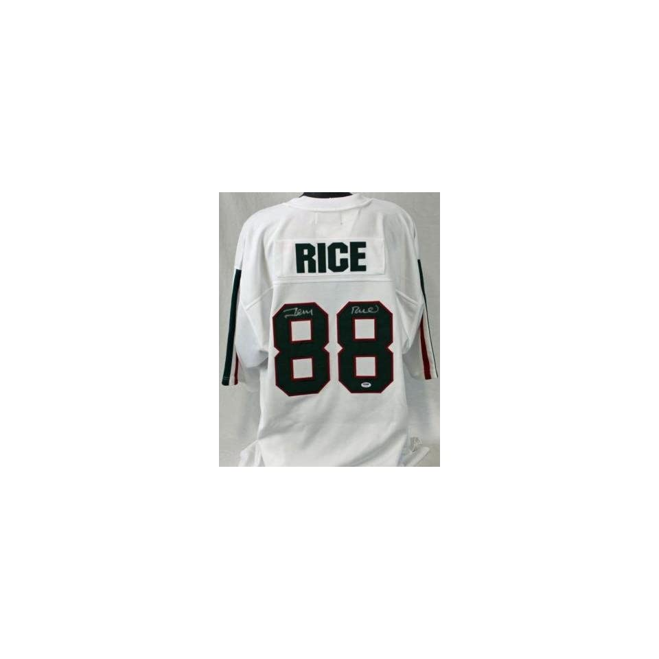 Miss Valley St Jerry Rice Authentic Signed Jersey Autograph Psa/dna #q11238   Autographed College Jerseys