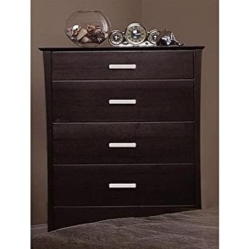 Coaster Contemporary Style Solid Wood Chest /Dresser, Cappuccino Finish