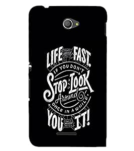 Motivational Quote 3D Hard Polycarbonate Designer Back Case Cover for Sony Xperia E4 Dual