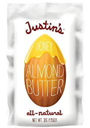 Justin\'s Honey Almond Butter, Squeeze Packs, 1.15 Ounce (Pack of 6)