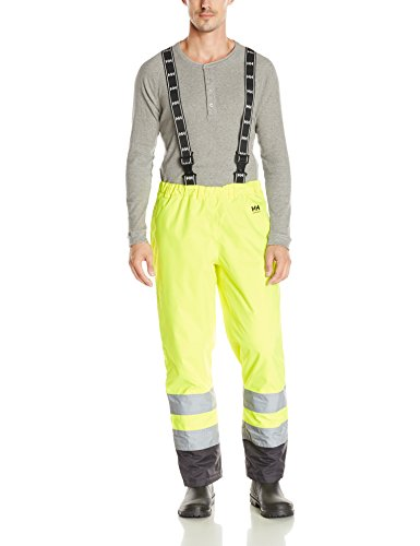 Helly Hansen Workwear Men's Alta High Visibility Insulated Pant, EN471 Yellow/Charcoal, 4X-Large