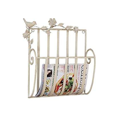 metal bird wall mount shabby chic magazine rack holder home decor. Black Bedroom Furniture Sets. Home Design Ideas
