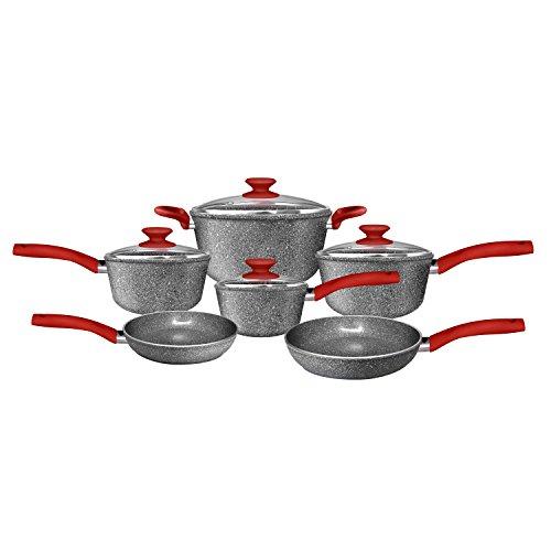 CeraPan Marble Hill 10 Piece Set Aluminum Cookware Set (Aluminum Ceramic Cookware compare prices)