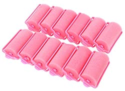 Homeoculture Queen wave beauty hair foam rollers 10 pieces/set sponge plastic foam hair rollers (Color May Vary)