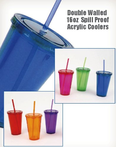 Big Top Cups With Straws : Double wall drinking glasses cups with lids straws