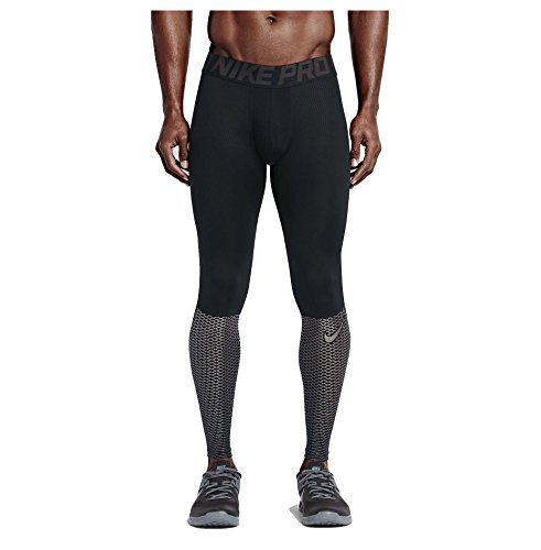 Nike Men's Pro Hypercool Max Training Tights-Black/Silver-Large
