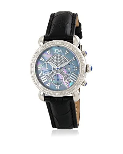 JBW Reloj con movimiento japonés Woman Victory Negro 37 mm