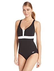Speedo Women's Color Block Crossback Endurance Swimsuit