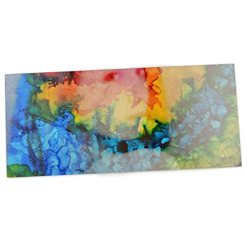 kess-inhouse-claire-day-clairefied-rainbow-paint-office-desk-mat-blotter-pad-mousepad-13-x-26-inches
