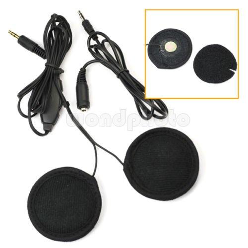 Motorbike Helmet Speakers Volume Control For Motorcycle Mp3 Ipod +Extended Line