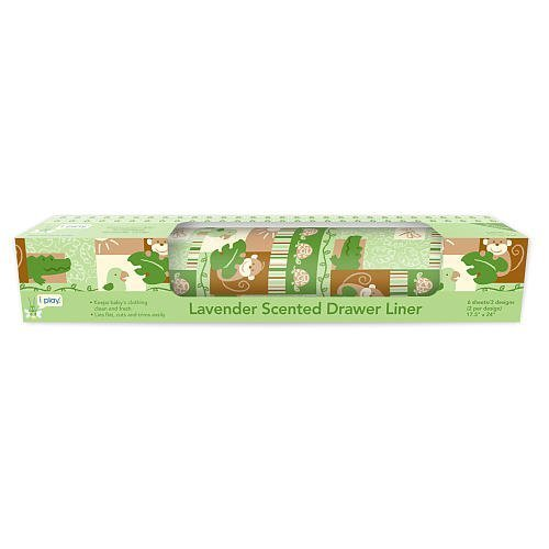 I-Play Lavender Scented Drawer Liner - Sage Safari - 1