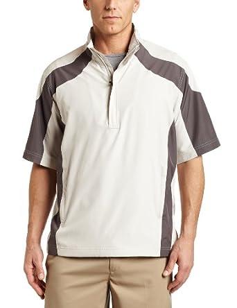 Ping Men's Torque Short Sleeve Windshirt, Pebble, Medium
