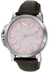 Puma PU103462010 Ultrasize LDS Leather Pink Watch