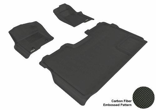 3D Maxpider U-Ace Ford F-150 2009-2013 Supercrew Kagu Black R1 R2 (2 Eyelets, Not Fit 4X4 M/T Floor Shifter, Trim To Fit Subwoofer) L1Fr03901509 Floor Mat