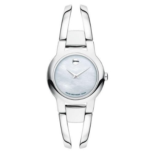 Movado Women's 0606538 Amorosa Stainless Steel White Mother-Of-Pearl Watch
