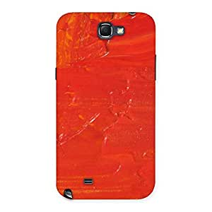 Special Orange Paint Texture Back Case Cover for Galaxy Note 2