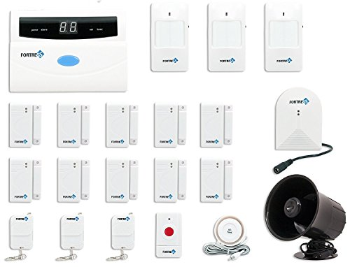 Fortress Security Store (TM) S02-E Wireless Home Security Alarm System DIY Kit with Auto Dial + Outdoor Siren, Glass Sensor & More for Complete Business and Home Security Brand: Fortress Security Store (Fortress Security Window Sensors compare prices)