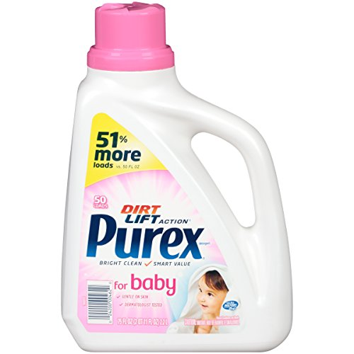 Purex Liquid Laundry Detergent, Baby, 75 oz (50 loads)