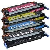 Refurbished HP 4700 Laser Toner Cartridge Set Black Cyan Yellow Magenta