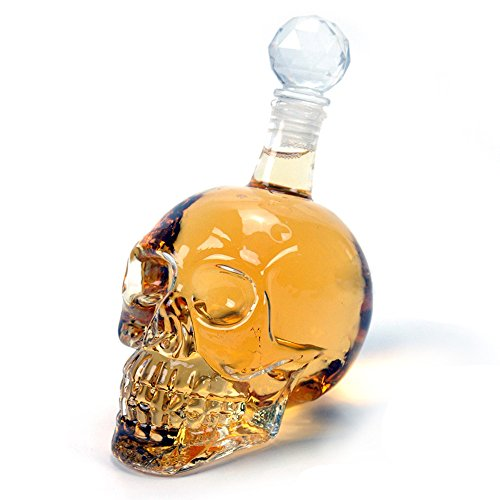 BIG 550 ml Skull Head Bottle Flask Crystal Decanter Zombie Shaped Glass Pourer Packnbuy