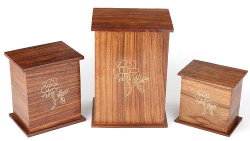 Urns UK 40 cl Wooden Urn Romsey, Brown
