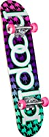 hoopla Complete Skateboard, 7.75-Inch, Multi-Color by Skate One Corp.