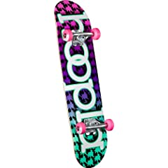Buy hoopla Complete Skateboard, 7.75-Inch, Multi-Color by hoopla skateboards