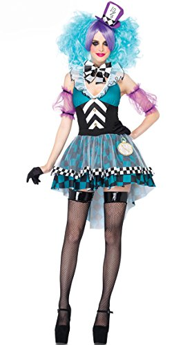 Halloween Adult-sized Clown Costumes Alice in Wonderland Maid Outfit Clown Cosplay