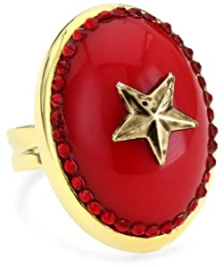 "TARINA TARANTINO ""Hey Sailor"" Metal Star Mod Ring in Regatta"