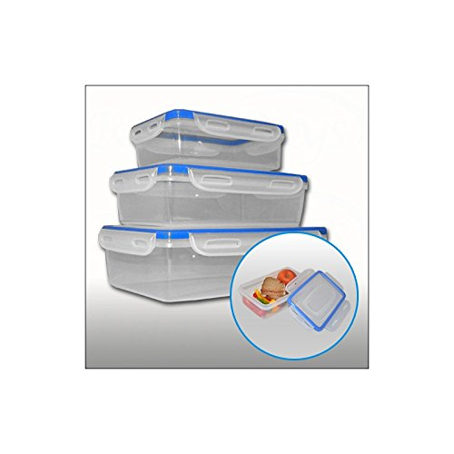 Set di 3 contenitori per alimenti cucina frigo microonde picnic