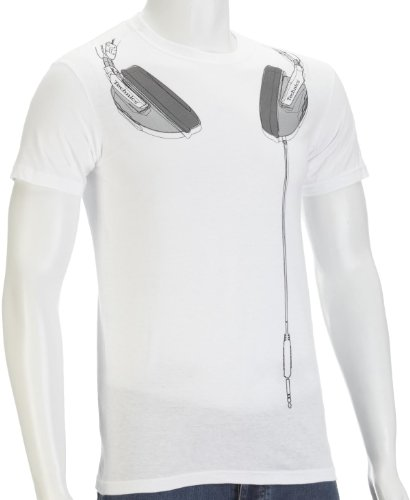 Technics Headphones Music-And-Film Mens T-Shirt White X-Large
