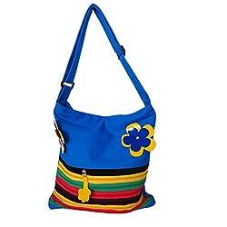 Womaniya Women's Handbag (Blue) (Handicraft Jhola Bag)