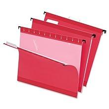 Pendaflex  Hanging Folder, Red, 1/5 Tab, Letter, 25 Box,4152 1/5 RED