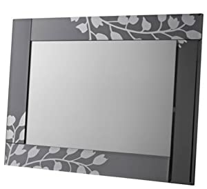 Flower patterned wall mirror 48 x 36 for Mirror 48 x 36