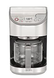 KRUPS KM611D50 Precision Programmable Coffee Maker with Aroma Selection and Stainless Steel Housing, 12-cup, Silver made by KRUPS