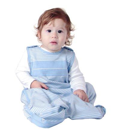 WOOLINO Ultimate Baby Sleep Sack, All Natural Merino Wool, One Size Fits Baby 3-24 Months, All Season Sleeping Bag, Blue