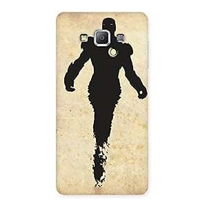 Special Black Genius Multicolor Back Case Cover for Galaxy A7