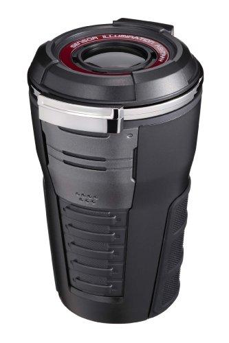 ナポレックス 車用 灰皿 センサーイルミアッシュ ドリンクホルダー型 ブラック LED付き Fizz-975