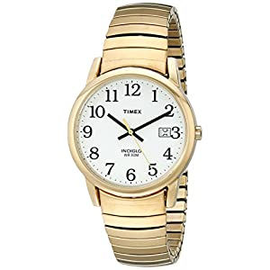 Timex® Men's Easy Reader Gold-Tone Expansion Band Watch #T2H301