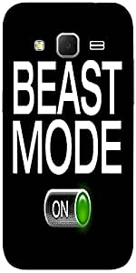 Snoogg Beast Mode - On Solid Snap On - Back Cover All Around Protection For S...