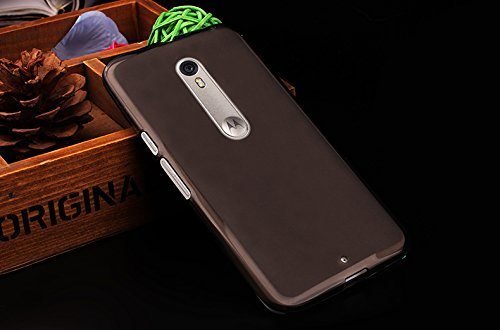 BEST DEALS Best Deals Premium Silicon Soft Case Cover for Motorola Moto X Style DarkGrey