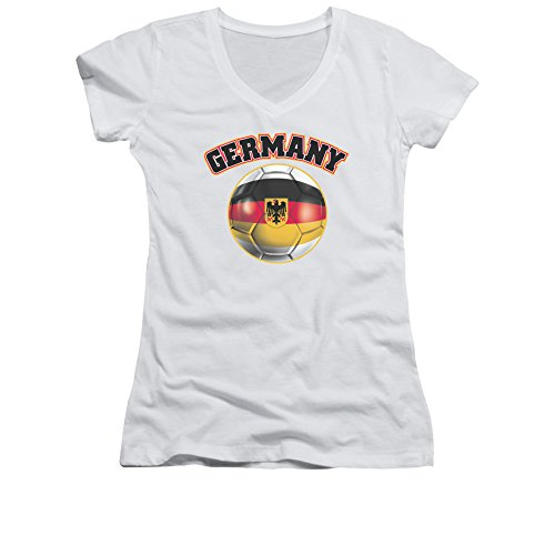 GERMANY - JUNIOR V-NECK - WHITE - 2X